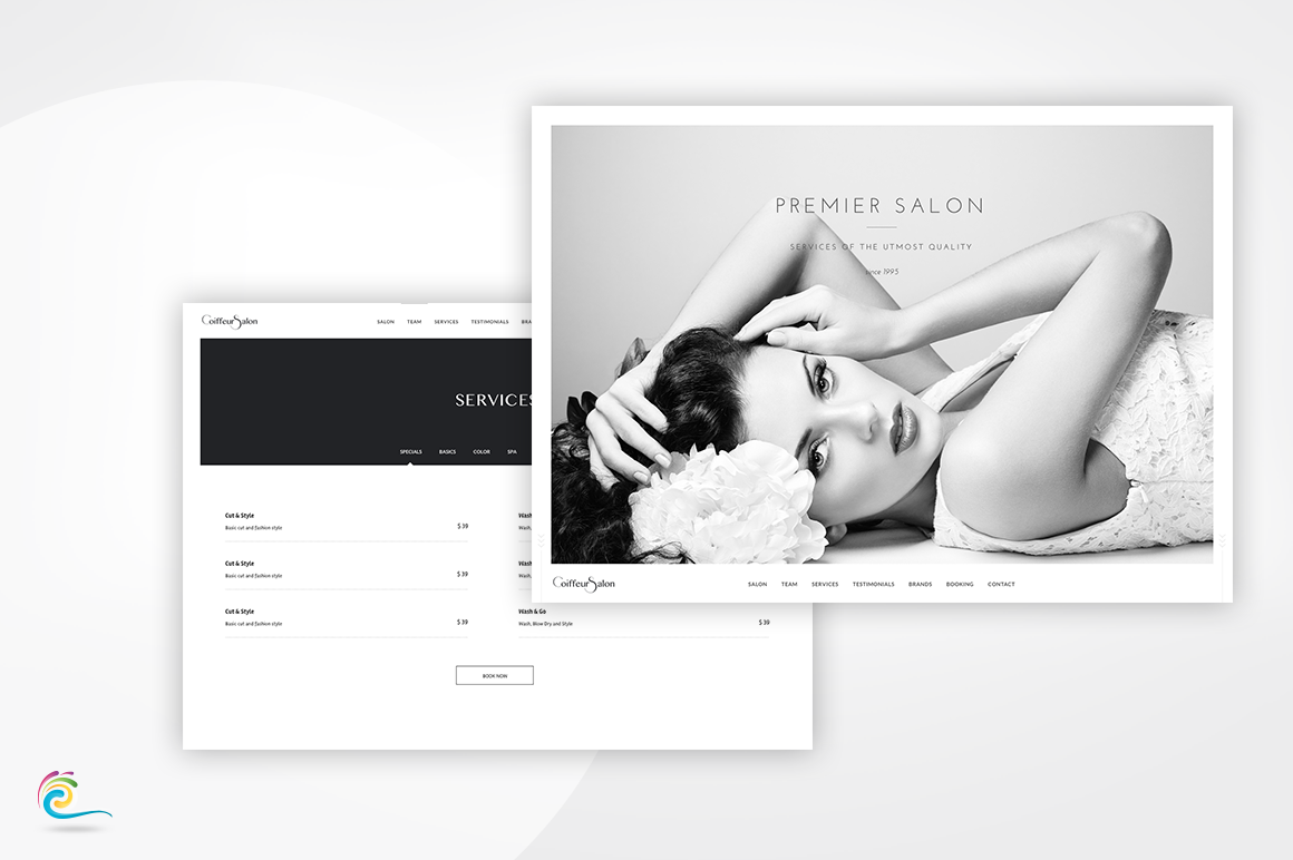 Coiffeur Salon - Classy and Elegant Retail Template